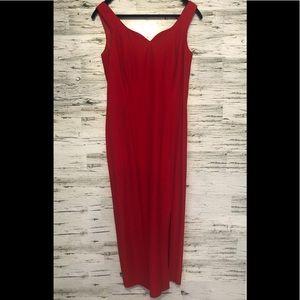 Joseph Ribkoff red dress with matching bolero